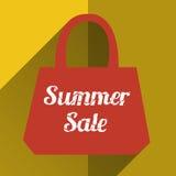Sombra longa lisa do saco de compras Imagem de Stock Royalty Free