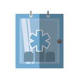 Sombra médica do símbolo do kit de primeiros socorros do armário Foto de Stock Royalty Free