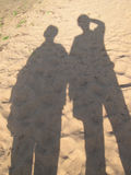 Sombra na areia Imagem de Stock