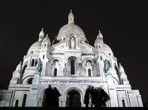 A sombra na basílica de Sacre-Coeur Fotografia de Stock Royalty Free