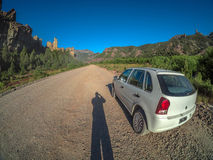 Sombra na estrada Fotografia de Stock Royalty Free