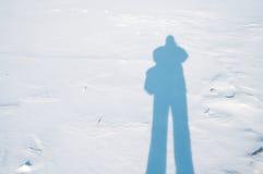 Sombra na neve Foto de Stock