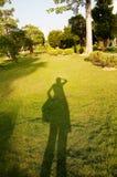 Sombra no campo de grama Foto de Stock Royalty Free