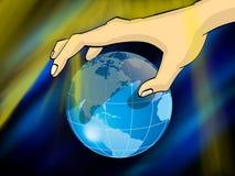 Sombra no mundo ilustração stock