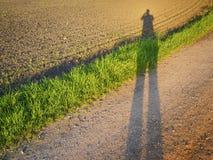 Sombra no por do sol Imagens de Stock