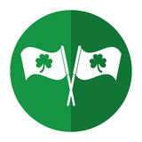 Sombra ornamentado do dia de St Patrick da bandeira do trevo Foto de Stock