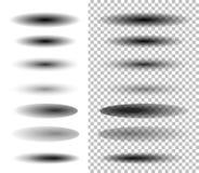 Sombra oval transparente Imagens de Stock Royalty Free
