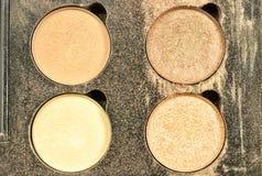 A sombra para os olhos compõe a cor de tom da terra usada Imagem de Stock Royalty Free