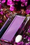 Sombra para os olhos roxa em um estojo compacto Imagem de Stock Royalty Free