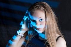Sombra rayada azul Imagen de archivo