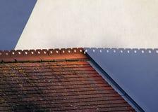 Sombras abstratas do telhado Foto de Stock
