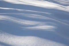 Sombras azules onduladas abstractas del árbol en la nieve Imágenes de archivo libres de regalías