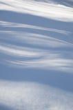 Sombras azules onduladas abstractas del árbol en la nieve Foto de archivo libre de regalías