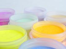 Sombras coloridas del maquillaje Foto de archivo libre de regalías