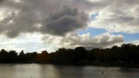 Sombras da beira do lago Imagens de Stock