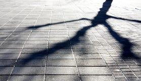Sombras da cidade do inverno foto de stock