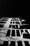 Sombras da construção Foto de Stock