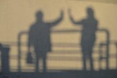 Sombras da mãe e da filha Imagem de Stock