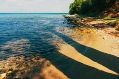 Sombras da praia Imagens de Stock
