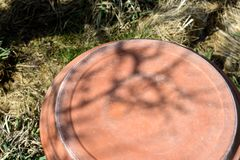 Sombras de cabeça para baixo da banheira de passarinho Imagens de Stock