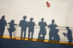 Sombras de espectadores en el Parabolica de Monza Imágenes de archivo libres de regalías