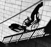 Sombras de la calle Imagenes de archivo