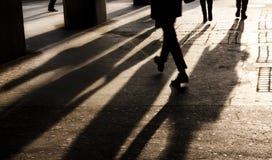 Sombras de la ciudad Foto de archivo