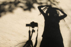 Sombras de la gente Foto de archivo