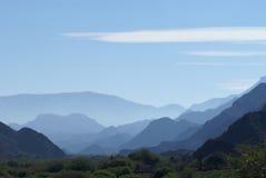 Sombras de la montaña Imagen de archivo