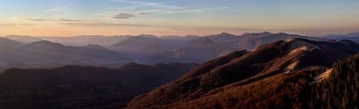 Sombras de la puesta del sol Foto de archivo libre de regalías