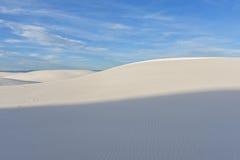 3 sombras de las arenas blancas Imagen de archivo libre de regalías