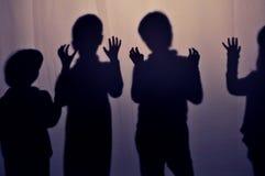 Sombras de niños Imagen de archivo libre de regalías