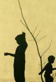 Sombras de niños fotos de archivo