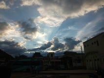 Sombras de nubes Imágenes de archivo libres de regalías