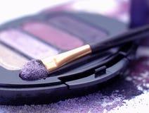Sombras de olho violetas Fotos de Stock Royalty Free