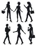 Sombras de seis mulheres Fotografia de Stock