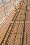 Sombras de um corrimão Fotografia de Stock