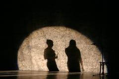 Sombras del cantante Imágenes de archivo libres de regalías