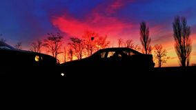 Sombras del crepúsculo Fotografía de archivo