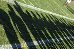 Sombras del equipo de fútbol Imagen de archivo libre de regalías