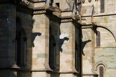 Sombras del Gargoyle en la catedral de Nidaros en Strondheim Fotografía de archivo