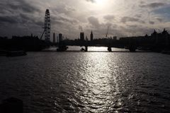 Sombras del horizonte de Londres fotos de archivo libres de regalías