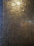 Sombras del negro, del oro y de la plata del mosaico imagen de archivo