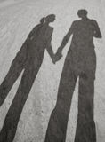 Sombras do amor Foto de Stock Royalty Free