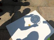 Sombras do eclipse solar imagem de stock