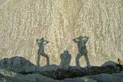 Sombras dos amigos Imagens de Stock