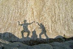 Sombras dos amigos Foto de Stock Royalty Free