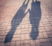 Sombras dos personas Fotografía de archivo libre de regalías