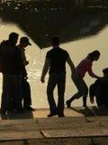 Sombras dos povos Foto de Stock