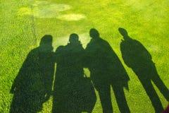 Sombras dos povos Fotos de Stock Royalty Free